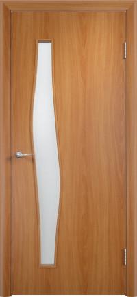 Дверь ламинированная Тип С-10 ДО, миланский орех