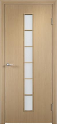 Дверь ламинированная Тип С-12 ДО, беленый дуб