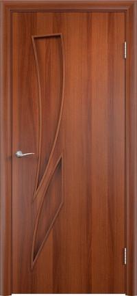 Дверь ламинированная Тип С-02 ДГ, итальянский орех
