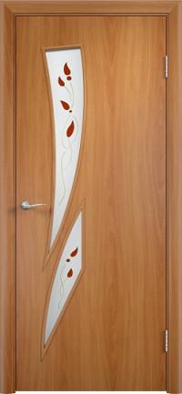 Дверь ламинированная Тип С-02 ДГ, миланский орех