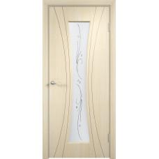 Дверь ПВХ Богемия ДО беленый дуб