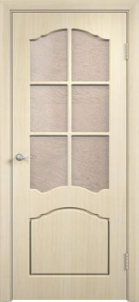 Дверь ПВХ Лидия ДO беленый дуб