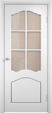 Дверь ПВХ Лидия ДO белый