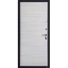 Дверь металлическая входная Арма Бастион с панелью В-2 Акация светлая поперечная