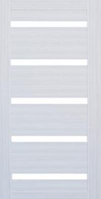 Дверь металлическая входная Арма Бастион с панелью СБ-14 Сандал светлый, стекло лакобель белый