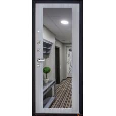 Дверь Arma Стоун с панелью Большое зеркало Сандал светлый