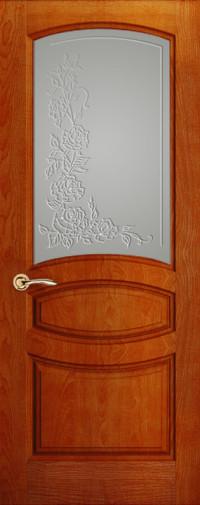 Дверь Изабелла, Красное дерево, Стекло