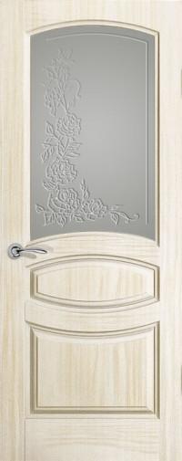 Дверь Изабелла, Ясень белый жемчуг, Стекло