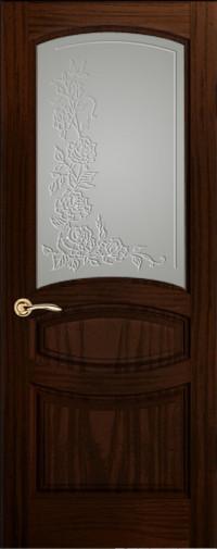 Дверь Изабелла, Ясень винтаж, Стекло