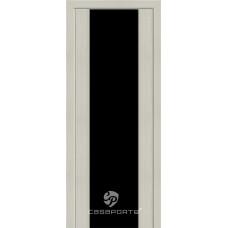 Дверь Casaporte Сан Ремо, Черный триплекс, беленый дуб мелинга