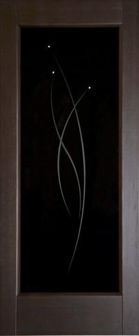 Дверь Дворецкий, Лучи 3, венге