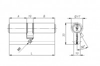 Личинка Fuaro 100 CA 62 mm (26+10+26) PB латунь