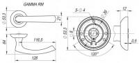 Ручка дверная Fuaro GAMMA RM SN/CP-3