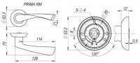 Ручка дверная Fuaro PRIMA RM GP/SG-5