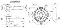 Ручка дверная Fuaro SONATA RM SG/GP-4