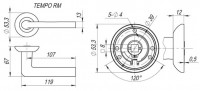 Ручка дверная Fuaro TEMPO RM SG/GP-4