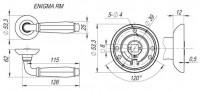 Ручка дверная Fuaro ENIGMA RM AB/GP-7