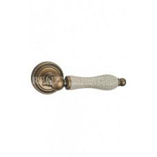 Ручка дверная Renz МИШЕЛЬ OB/OC бронза состаренная с состаренной керамикой