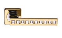 Ручка дверная Sillur C-199 золото / кристаллы