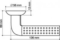 Ручка дверная Armadillo Libra LD26-1SN/CP-3