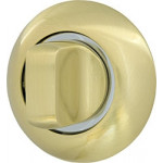 Фиксатор-завертка Armadillo WC-BOLT BK6-1SG/CP-1 матовое золото/хром