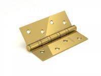 Петля дверная Fuaro 4BB 100x75x2,5 PB, золото