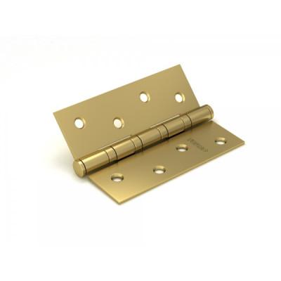 Петля дверная Fuaro 4BB 100x75x2,5 SB, матовое золото