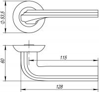 Ручка Punto BOLERO TL SN/CP-3 матовый никель/хром