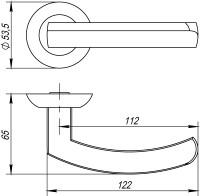 Ручка Punto ALFA TL SN/CP-3 матовый никель/хром