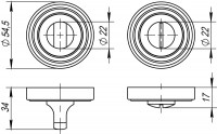 Ручка Punto поворотная BK6 ML SN/CP-3 матовый никель/хром