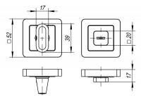 Ручка Punto поворотная BK6 QR GR/CP-23 графит/хром