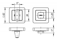 Ручка Punto поворотная BK6 QR SN/CP-3 матовый никель/хром