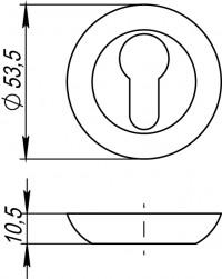 Ручка Punto поворотная BK STL GP/SG-5