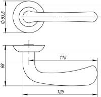 Ручка Punto SIMFONIA TL SN/CP-3 матовый никель/хром
