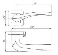 Ручка Punto VESTA QR SN/CP-3 матовый никель/хром