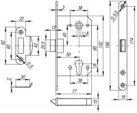 Корпус замка Fuaro PLASTIC P85C-50 AC медь