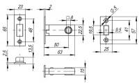 ЗАЩЕЛКА МАГНИТНАЯ FUARO MAGNET M12-50-25 SG мат. золото