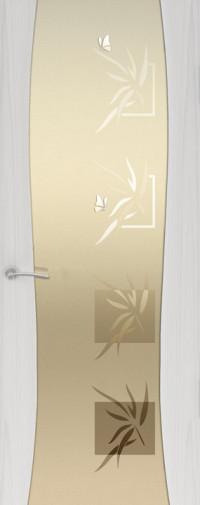 Дверь Буревестник -2, Бабочки, Ясень серый