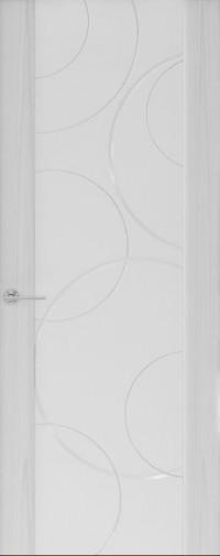Дверь Capri-1, Ясень серый, стекло