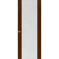 Дверь Capri-1, Глянец винтаж стекло