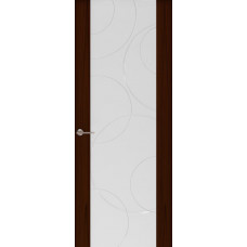 Дверь Capri-1, Ясень винтаж, стекло