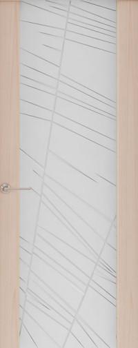 Дверь Capri-2, Ясень капучино, стекло