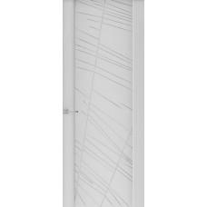 Дверь Capri-2, Глянец серый стекло