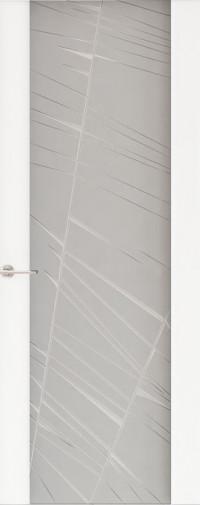Дверь Capri-2, Глянец белый, стекло