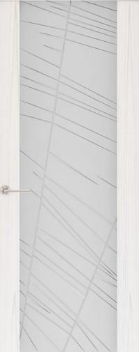 Дверь Capri-2, Ясень белый жемчуг, стекло