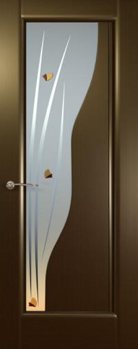 Дверь Фрегат, Венге, стекло белое