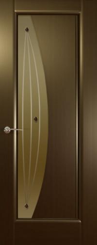 Дверь Мидия, стекло бронзовое, Венге