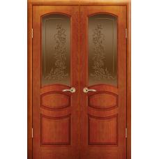 Дверь Изабелла, Красное дерево, Распашное, Стекло