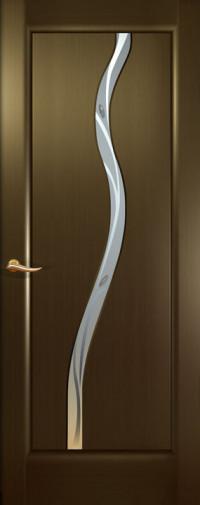 Дверь Новая волна, Венге, остекление Z, стекло белое