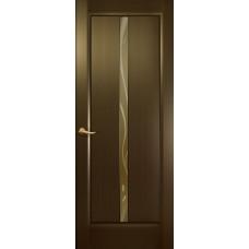 Дверь Новая волна, Венге, остекление L, стекло бронзовое